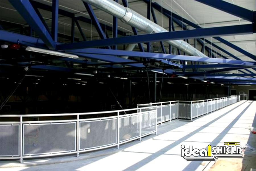 Ideal Shield's Aluminum Handrail with Infill around Running Track