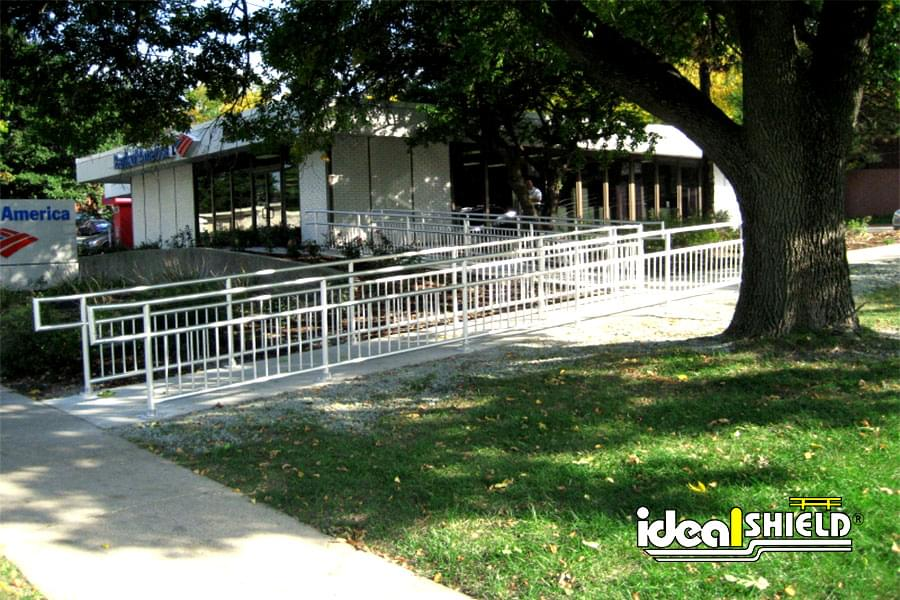 Ideal Shield's Aluminum Handrail For Handicap Ramp