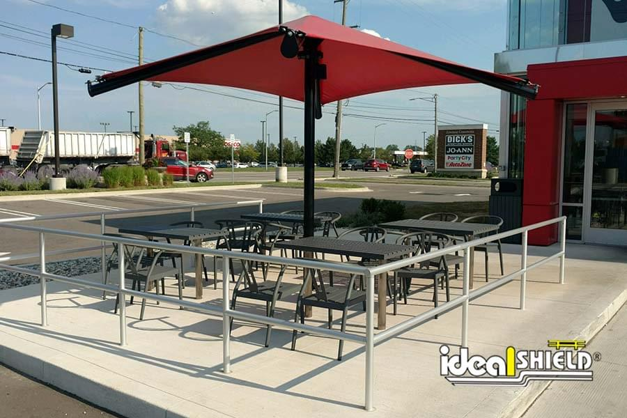 Ideal Shield's Aluminum Handrail at Panda Express Patio