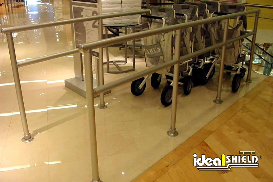 Shopping Cart Corral Located In Store