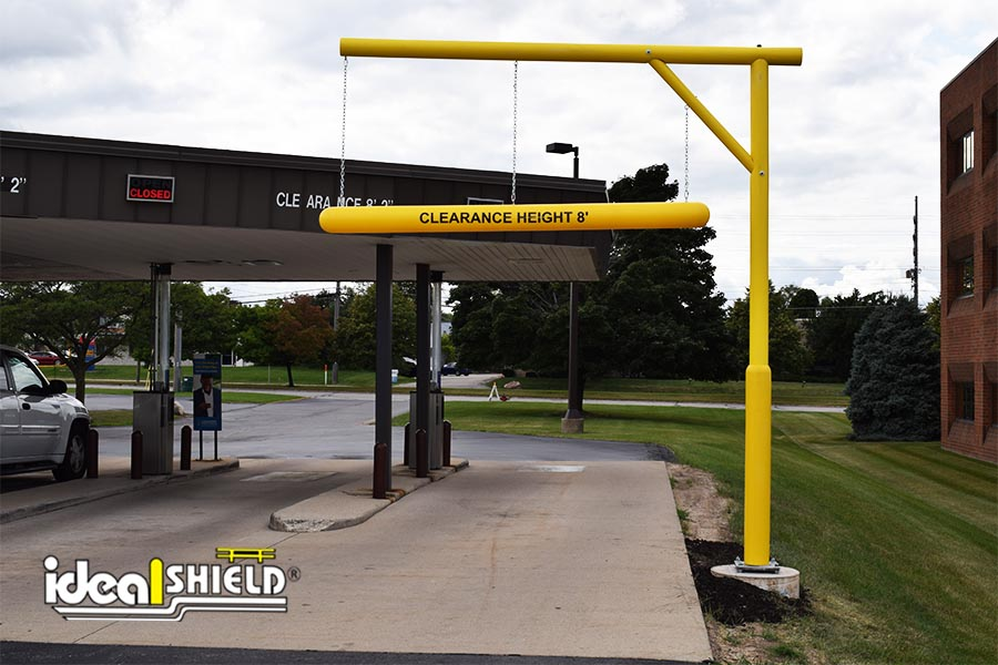 Ideal Shield's Clearance Bar with Apparatus at an ATM drive-thru