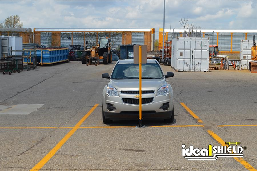 Ideal Shield Flexpost Sign Stick Protecting Parking Lot Signage
