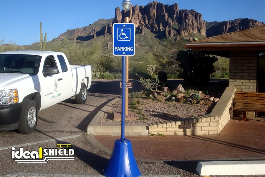 Ideal Shield's Octagon Sign Base Reserving Handicapped Parking