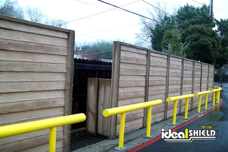 Ideal Shield's One Line Guardrail Creating Barrier Along Fence Line