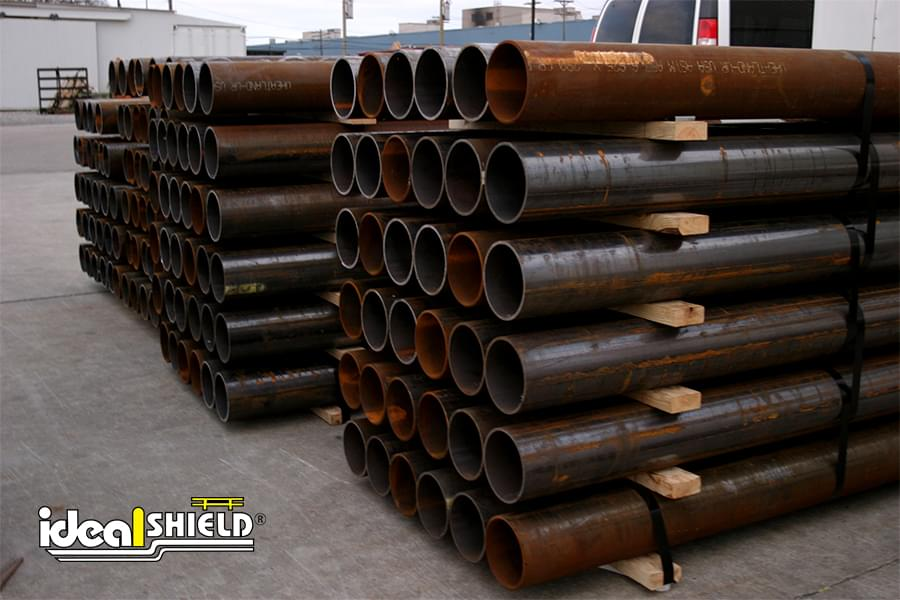 Steel Bollards Ready To Be Cut To Custom Lengths