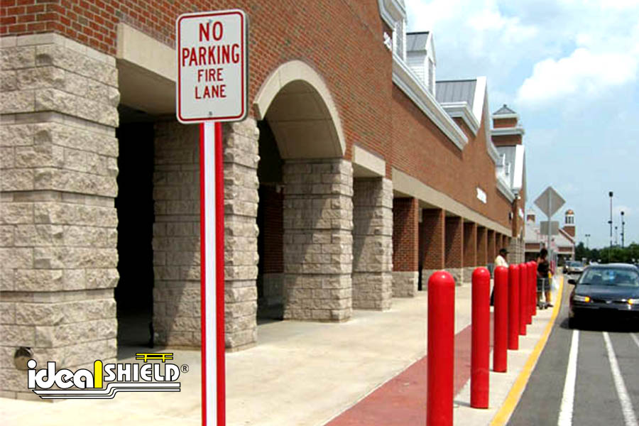 Ideal Shield's Red U-Channel cover used for No Parking Fire Lane signage