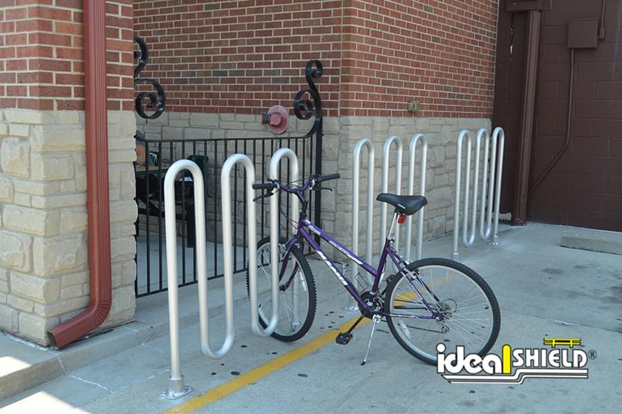 Bike Rack at Grocery Store