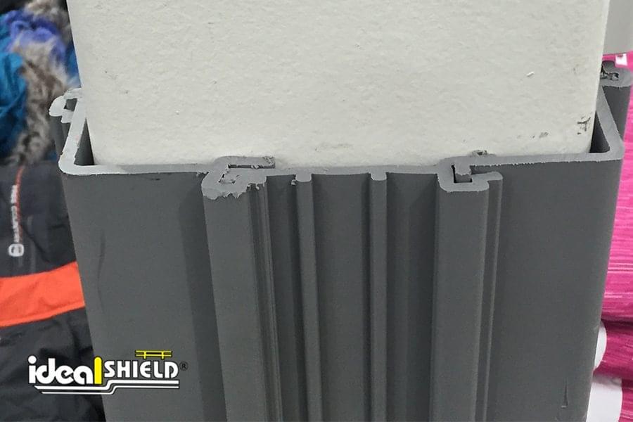 Ideal Shield's Gray Square Column Wrap Fits Snug Along Column
