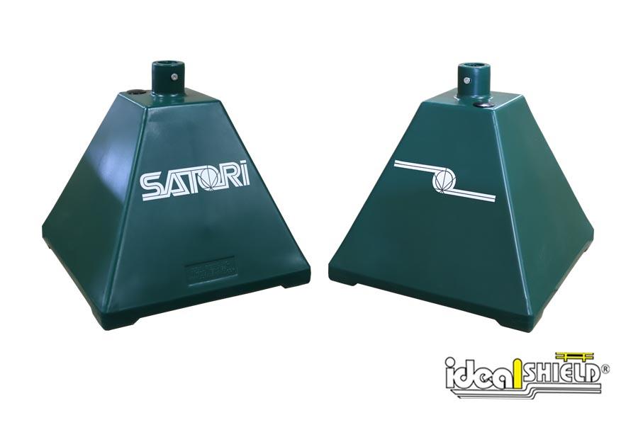 Custom decal Sign Bases for Satori Dispensary