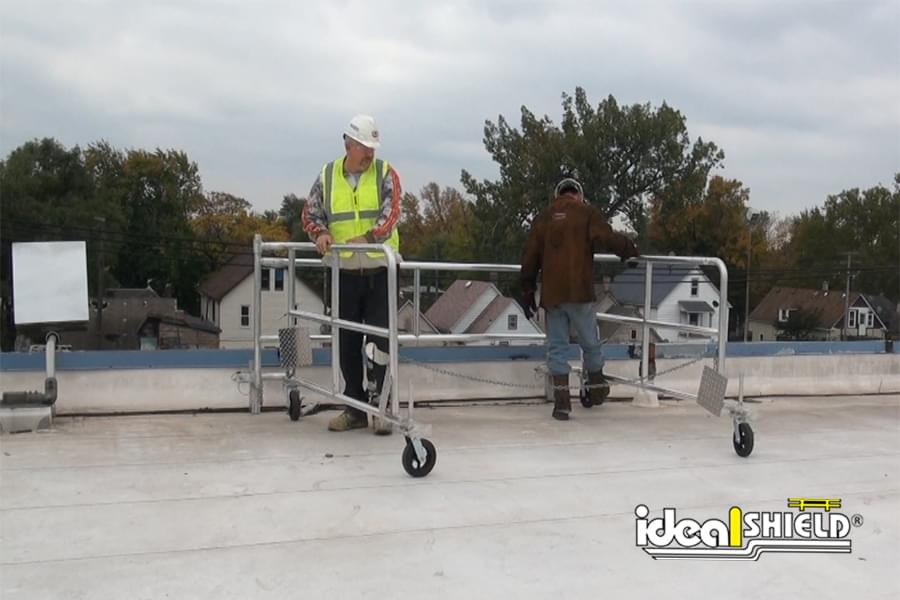 Ideal Shield's Rooftop Parapet Protection With Mobile Parapet Railing