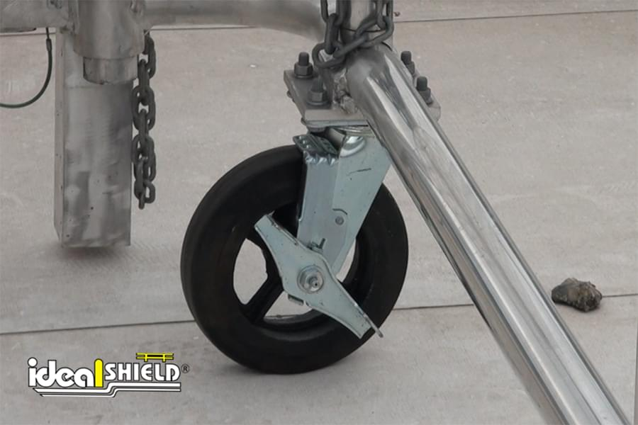Mobile Parapet Barrier Wheels Close Up