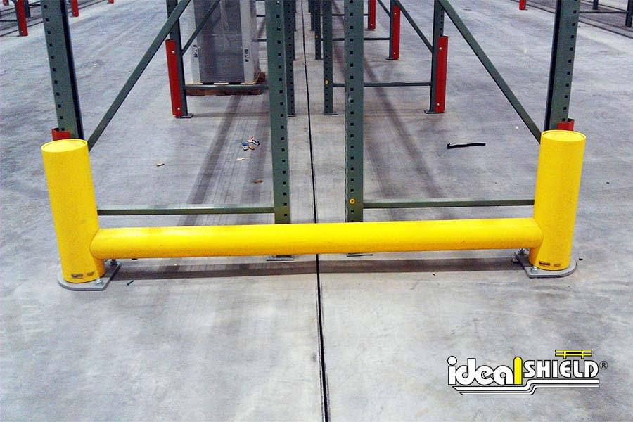 Rack System Guardrail With Zero Deflection From Forklift Impact