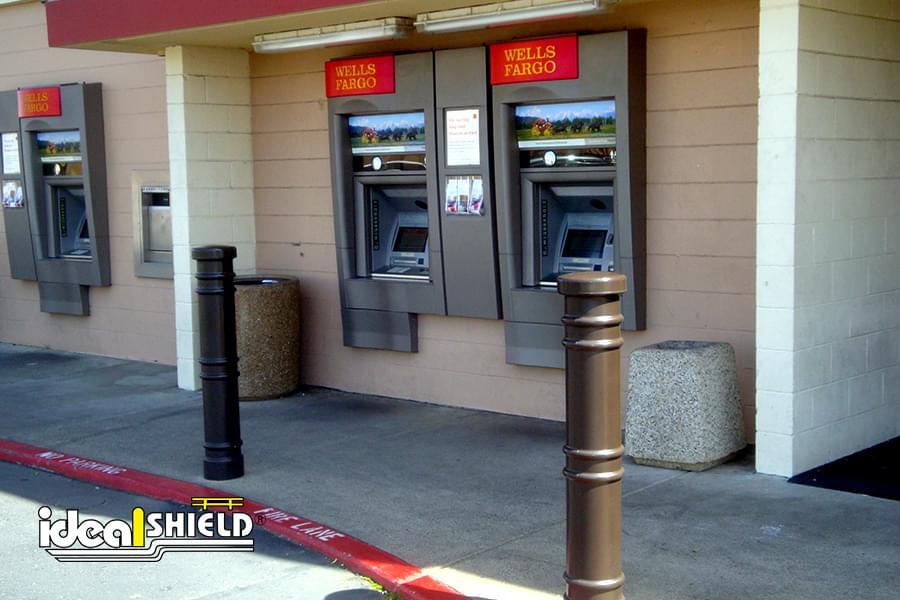 Ideal Shield's brown Metro Decorative Bollard Covers at Wells Fargo