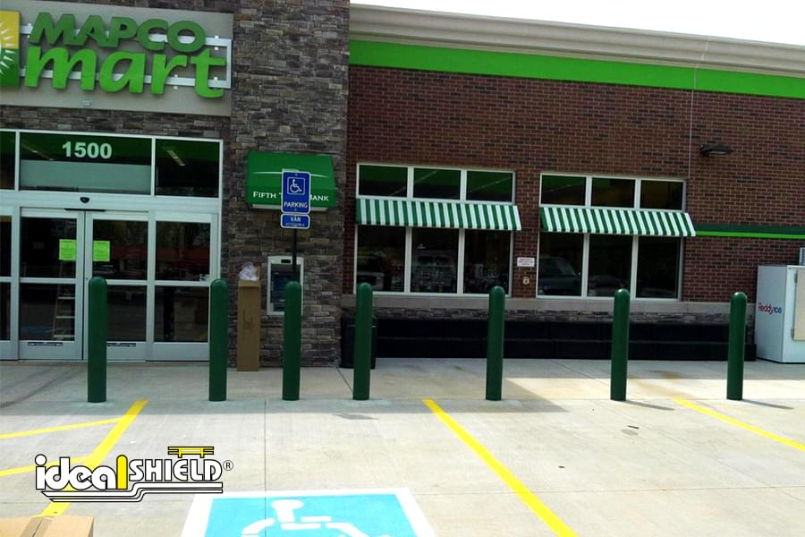 Ideal Shield's bollard covers in front of Mapco