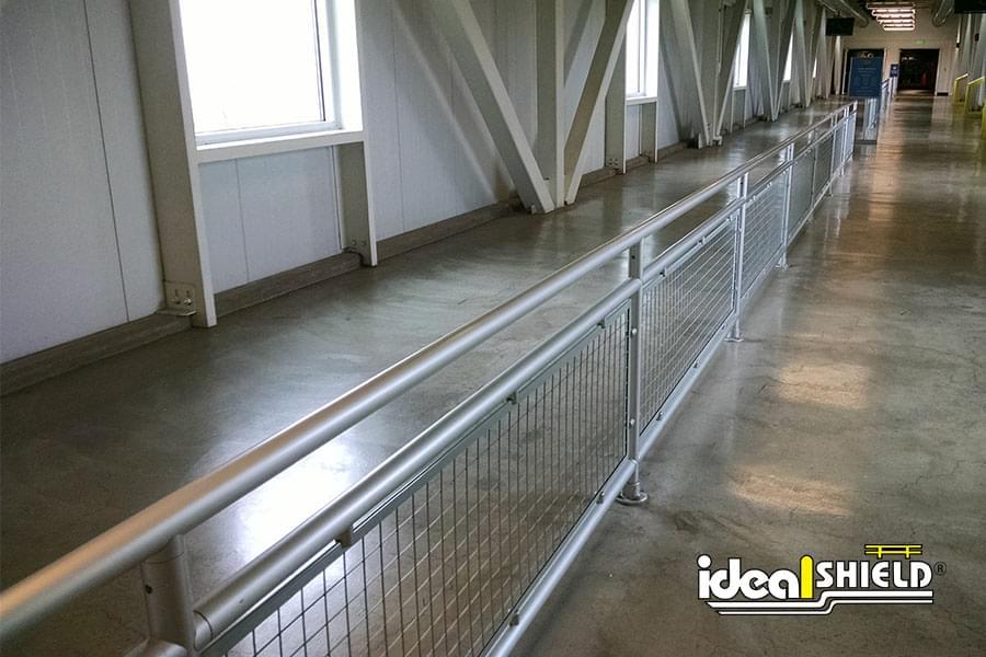 Ideal Shield's straight line aluminum handrail