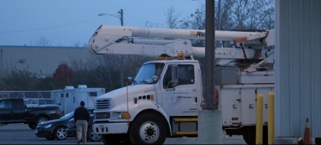 Ideal Shield's yellow bollard covers in a DTE commercial
