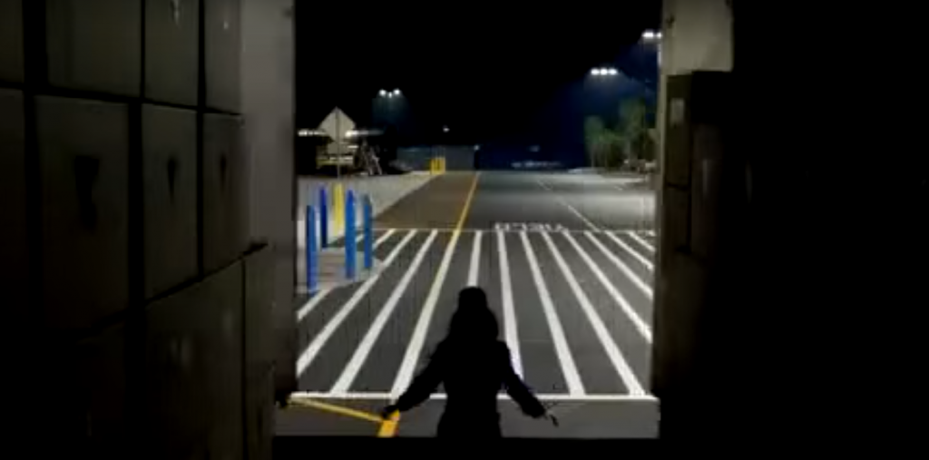 Ideal Shield blue bollard covers in Katy Perry's Walmart commercial