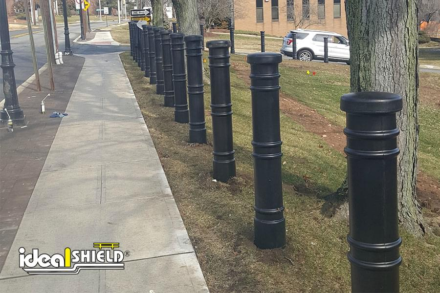 Ideal Shield's decorative bollard covers