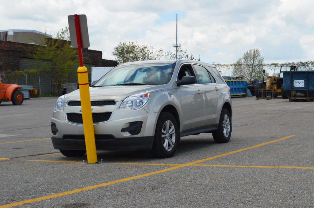 Ideal Shield's Flexible Bollard Sign System