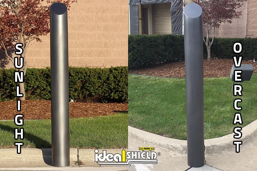 Ideal Shield's Metallic Black Bollard Cover comparison