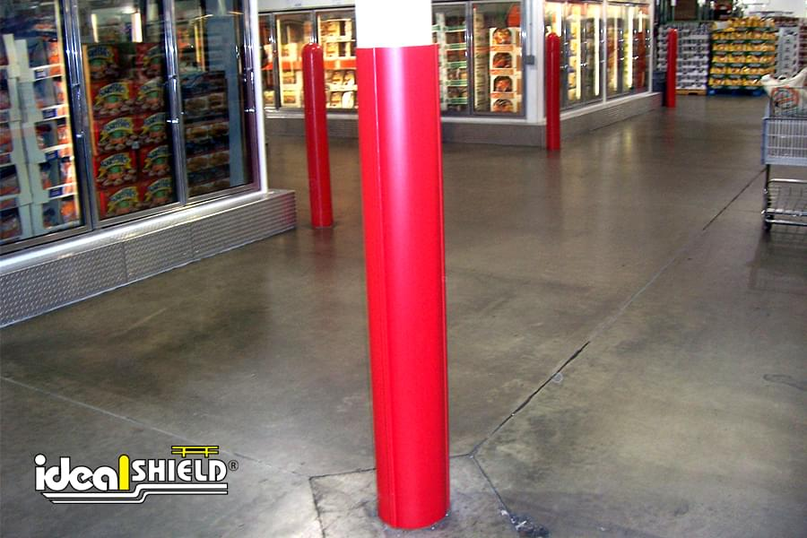 Ideal Shield's red plastic Round Column Wrap