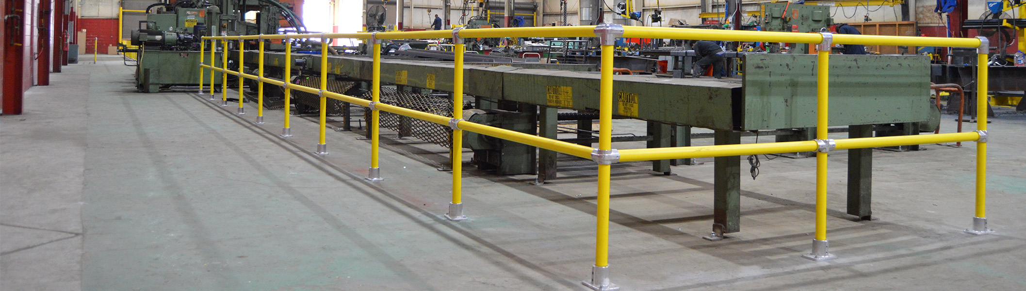 Ideal Shield Steel Pipe and Plastic Handrail