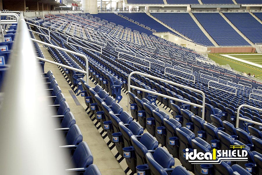 Ideal Shield's Aluminum Handrail at Ford Field