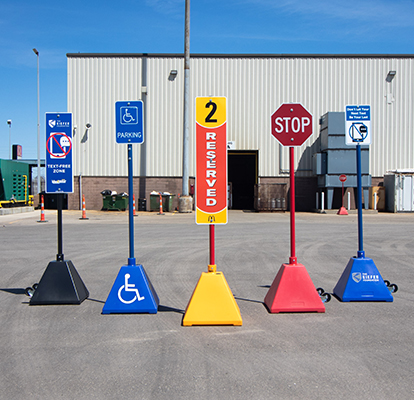 Ideal Shield Plastic Pyramid Sign Base Systems