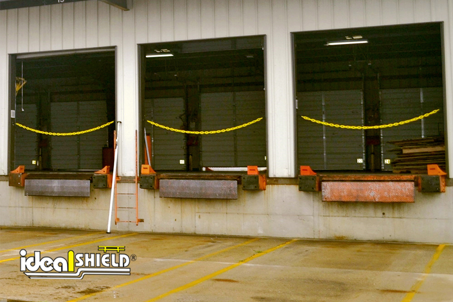 Ideal Shield's Loading Dock Chain Kit in multiple dock doors