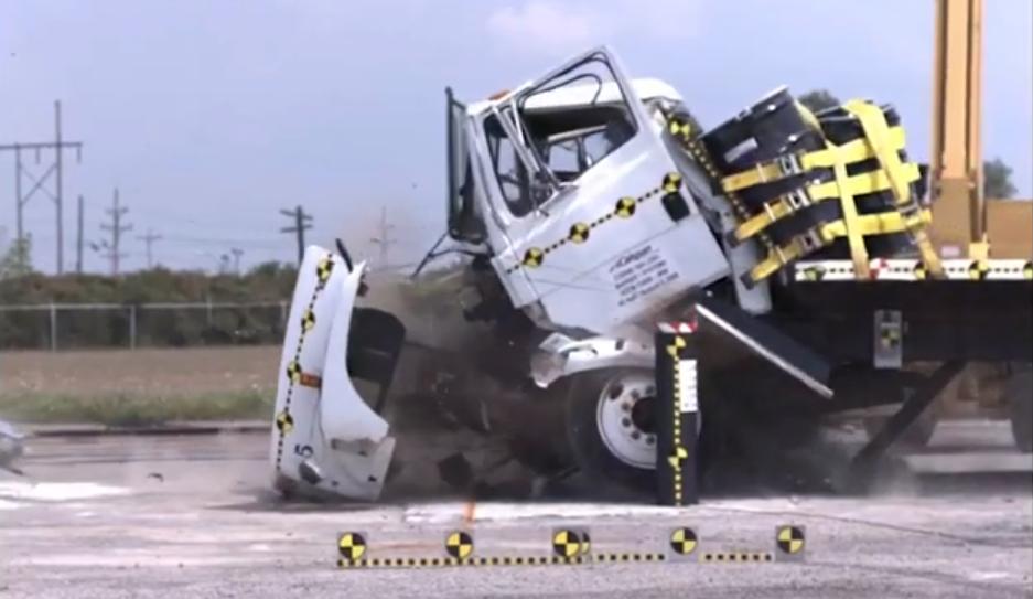 K12 Certified Set & Pour Crash Bollard in action