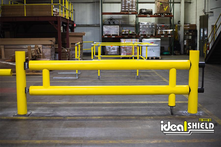 Ideal Shield's Heavy Duty Guardrail Swing Gate